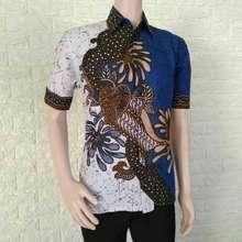 Azka Batik Baju Batik Pria Modern Terbaru Baju Batik kantor Batik Atasan  Kerja Kemeja Batik Pria e0390a1764