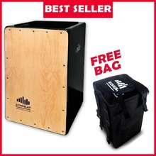 Echoslap (Thailand) Supersnare (Black) Cajon Drum Box Percussions (Free Bag)