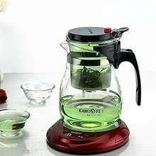 KAMJOVE Glass Kungfu Teaset Press AUTO-OPEN Art tea Cup Teapot with Infuser TP-757 700ml elegant style tea sets infuser de cha