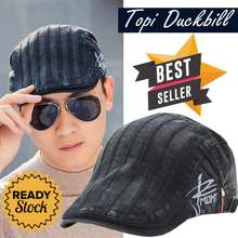 Ormano Topi Baret Pria England Casual Golf Summer Duckbill Pet Outdoor  Retro Fashion s8483 - Black ca42d6e933