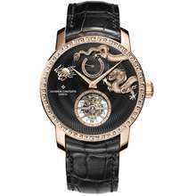 Vacheron Constantin Traditionnelle Tourbillon Hand Wind Black Dial Watch 89000/000R B528
