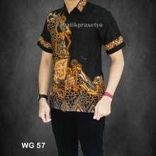 Azka Batik Jual Kemeja Batik Pekalongan Baju batik Pria Hem Batik Pekalongan  Pandawa - Kuning e4716e9b29