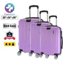 Case Valker Travel Luggage ABS+PC Glossy Protector with Hanger Luggage 3 in  1 Set 354c783c9d