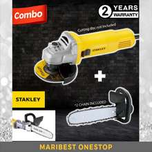 """STANLEY """"COMBO CHAINSAW (2 CHAIN) & SG6100 SLIMLINE 620W SMALL ANGLE GRINDER 4"""""""" 12000RPM CABLE 2.3M STGT5100 REPLACEMENT"""""""