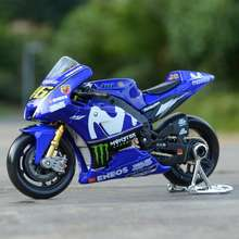 MAISTO 1:18 2018 Motogp Racing Yamaha Yzr M1 Factory Racing Team 46# 25# Static Die Cast Vehicles Collectible Motorcycle Model Toys