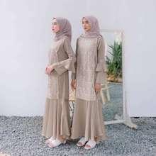 Vanilla Hijab Kirana Dress By Size L