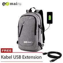 Mairu Tas Ransel Laptop Pria Sekolah Kuliah Kerja Backpack Support USB Port  Charger Anti Air TN 6905fc2e65