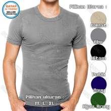 Agree Kaos Oblong Pria / Kaos Dalam Pria Body Fit