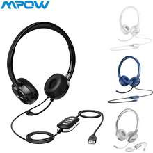 Mpow [Flash Sale] 071 Usb 3.5Mm Wired Headphone Noise Cancelling Mic Computer Headset For Computer Phone