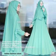 Ladies Fashion Setelan Gamis Muslimah Wanita GRATIS Bergo   Baju Gamis  Modern   Gamis Wanita Model 1d795a852f