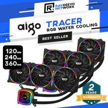 aigo Darkflash Tracer (Dt-120/Dt-240/Dt-360) Aio Rgb Liquid Cpu Cooler [Compatible With Intel & Amd]