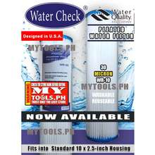 WATER CHECK 30 Micron Pleated Water Filter Cartridge Philippines