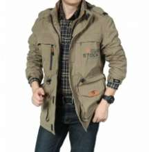 afs jeep AFS JEEP Western Design Men Long Sleeve Outdoor Camping Jacket Coat