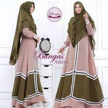 DRESS GAMIS SYARI ADEENA BY BUNGAS ORIGINAL 3c2c2cd6f2