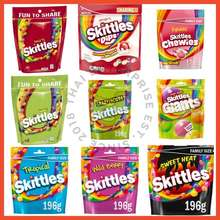 Skittles [No Halal Sign] Family Size Fruits / Crazy Sour / Wild Berry / Tropical / Dips / Chewies / Sweet Heat / Pride