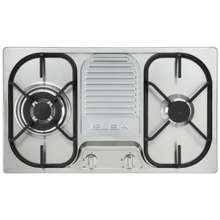 ELBA Italy 73Cm Built-In Gas Cooktop, Stainless Steel Finish