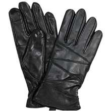 Universal Traveller Women Leather Gloves With Fur Lining Gvl8245W Jet Black