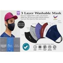 ENZO 3 Layer Washable Mask Bfe>98%