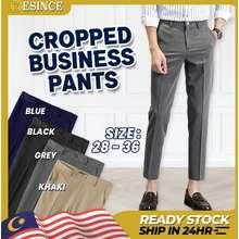 🇲🇾Ready Stock😎 Men Cropped Pants Business Trousers Formal Regular Fit Long Pants Casual Seluar Panjang Lelaki 九分裤Mp 111