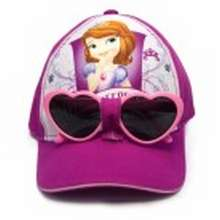 0fb9c44820 Sofia the First Disney Cap with Heart Sunglasses size 50cm