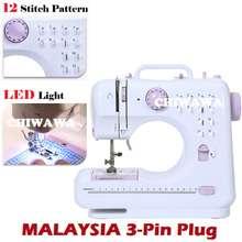 Asotv 【Malaysia 3-Pin Plug】 12 Stitch Option Fhsm-505 Sewing Machine + Led Light