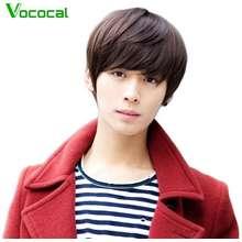 SALE Vococal (In stock)Fashion Pria Tampan Suhu Tinggi Serat Pendek Rambut  Lurus Wig dengan 05d9fbe4ca