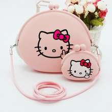 Hello Kitty Silicone Wallet Cartoon Handbag Shoulder Bag Backpack