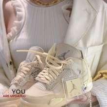 JORDAN Off-White X Nike Air 4 Retro Sp For Women Shoes Aj4 Sports Shoes