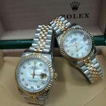Rolex Jam Tangan Couple Oyster Perpetual Plat Kombinasi Kw Super 1:2