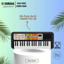 Yamaha 【Giá chỉ 1.082K】Đàn organ điện tử cho trẻ em PSS-F30 - Bàn phím mini - 120 Tiếng nhạc - 114 điệu nhạc đệm - Giắc cắm loa và tai nghe tích hợp - Bảo hành chính hãng 12 tháng