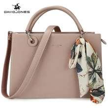 David Jones Paris Handbag Women Sling Bag Beg Wanita Big Totes Female Crossbody Bag Top-Handle Bags Scarf