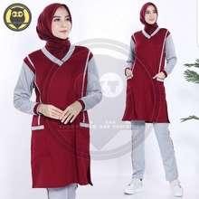 Yovis Baju Olahraga 1 Set Wanita Muslimah Setelan Senam Tunik Aerobic