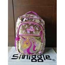 Smiggle Gold Trolley Backpack Unicorn / Tas Sekolah Anak Sd Or Pg - Tk