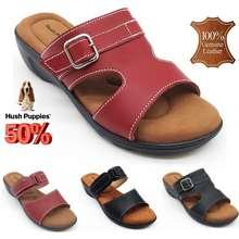 Hush Puppies <Clearance Offer> Selipar Sandal Kulit Wanita Ladies Leather Slipper Sandal