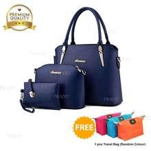 Prado Authentics Korean Premium Leather Fashion 3 in 1 Set Bag PAB904