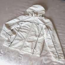 Ellesse Korea White Hooded Sports Winter Windbreaker Parka Jacket Outer (New)