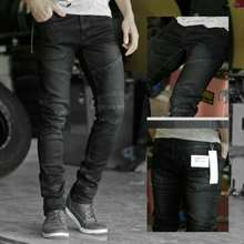 3second Jeans With Thigh And Knee Rips Biowash Brown / Jeans Robek Sobek Pria Celana Jeans Bikers