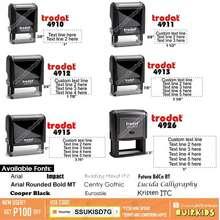 Trodat Customized Self Inking Stamp 4910 / 4911 / 4912 / 4913 / 4915 / 4926