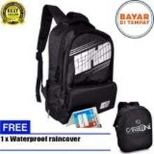 Carboni Backpack Tas Ransel Laptop RA00050 15 - Black Original + Raincover  Waterproop b2411a7692