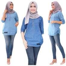 H&M Baju T Shirt Perempuan Long Shirt Size S To 5Xl Muslima Ladies
