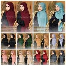 GR Hijab Pashmina Instan Plus Inner / Hijab Pashmina Ceruty / Pashmina Tali Terbaru (Int: One size, Hitam)