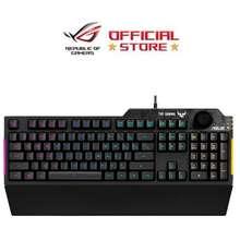 ASUS Tuf Gaming K1 Rgb, Spill-Resistance Gaming Keyboard With Dedicated Volume Knob (90Mp01X0)