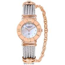 Charriol St Tropez Classic Ladies Watch - Stainless Steel Pink Gold Plated 028Rp.540.326