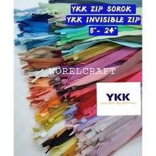 YKK 12Pcs/1Dozen Invisible Zipper/ Zip Sorok / Zip Sembunyi [Readystock]