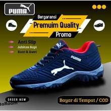 PUMA Sepatu Olahraga Sport Sneakers / Pria Wanita Hiking Outdoor / Big Size Jumbo 44 45 46 47 / Sp001
