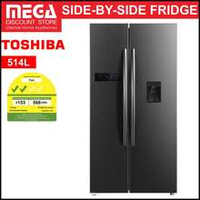 Toshiba Gr-Rs682We-Pmx 514L Side By Side Fridge (2 Ticks)