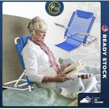 Bed Backrest Adjustable Medical Mesh Foldable Frame Lazy Chair Armrest & Pillow Disability Equipment Kerusi Sandar Malas