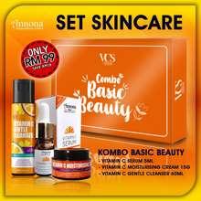 Annona Set Skincare Vitamin C Serum Kombo Basic Beauty 5Ml Moisturizer Cleanser