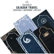 Alif Sajadah Travel   Sejadah Traveling Waterproof & Antislip Modern Pouch   Pria & Wanita Kekinian