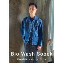 Lokal jaket denim destroy bio wash